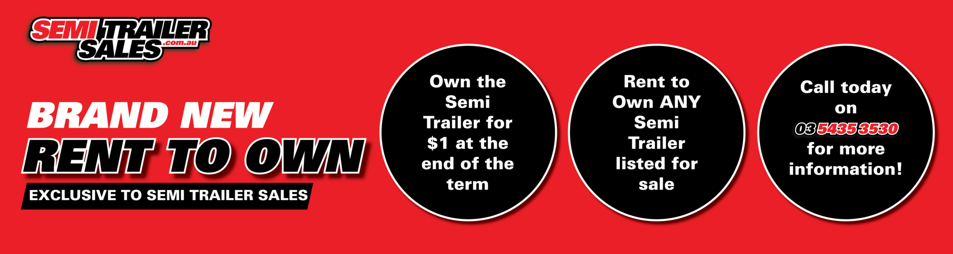 Rent to Own with Semi Trailer Sales Pty Ltd