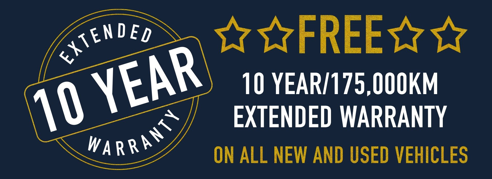 Free 10 year extended warranty