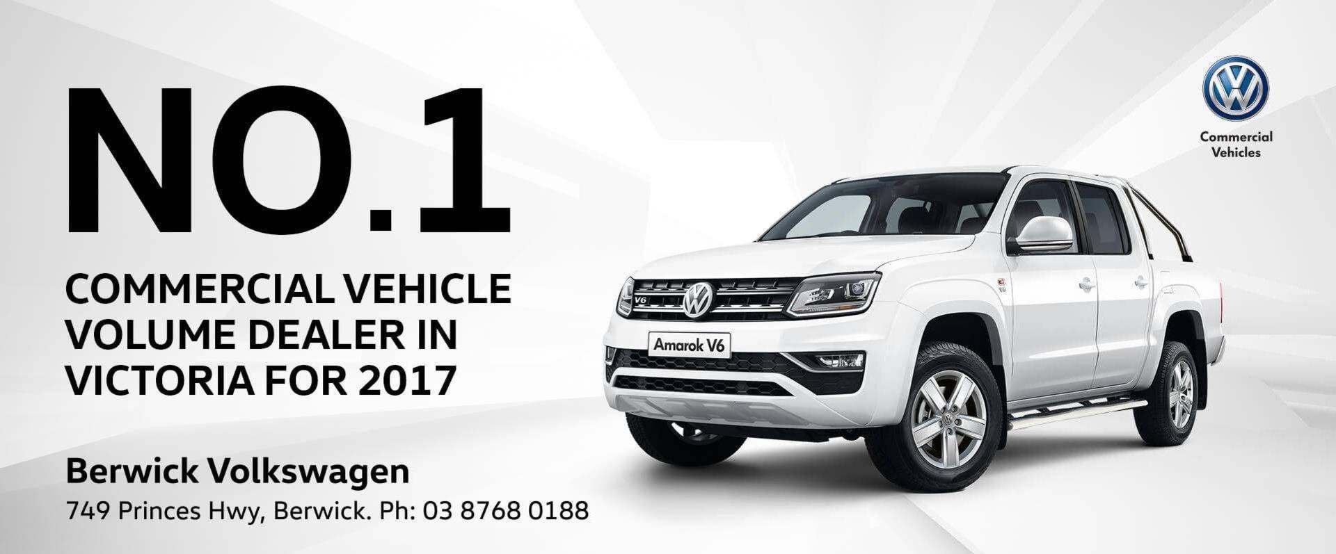 Berwick Volkswagen No.1 Commercial Vehicle Dealer in Victoria 2017