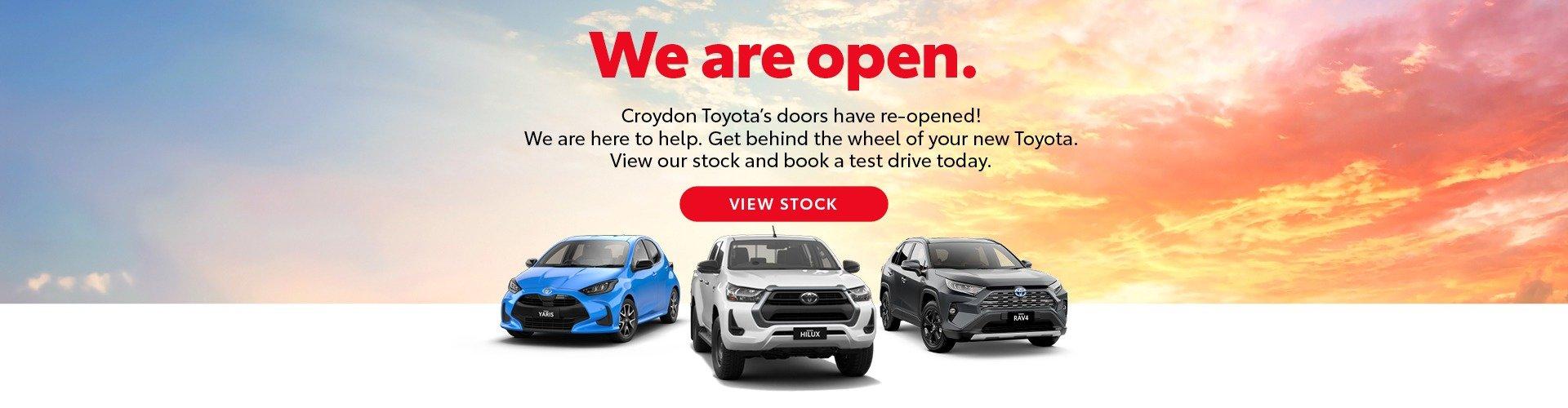 Croydon Toyota - We are open