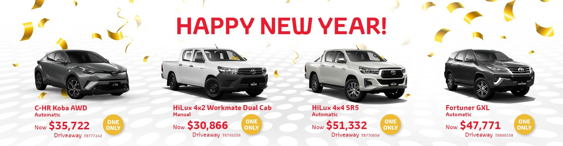 Cardiff Toyota New Year Deals