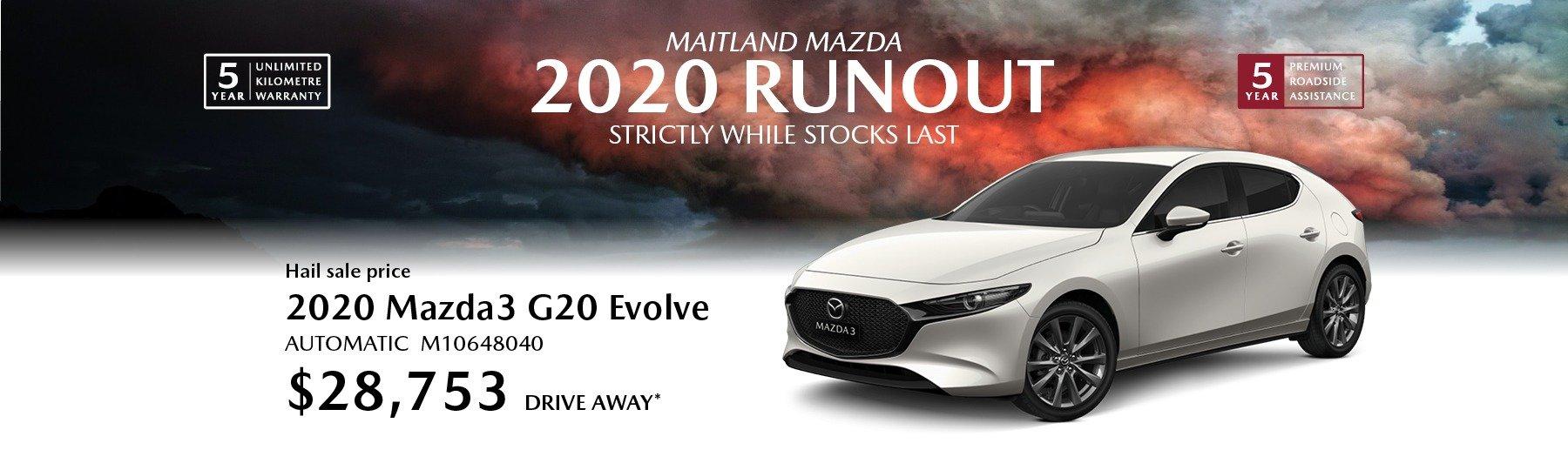Mazda 2020 runout