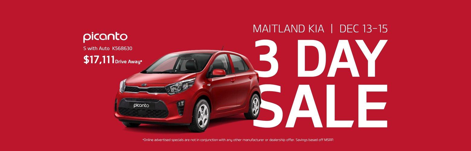 maitland kia 3 day sale
