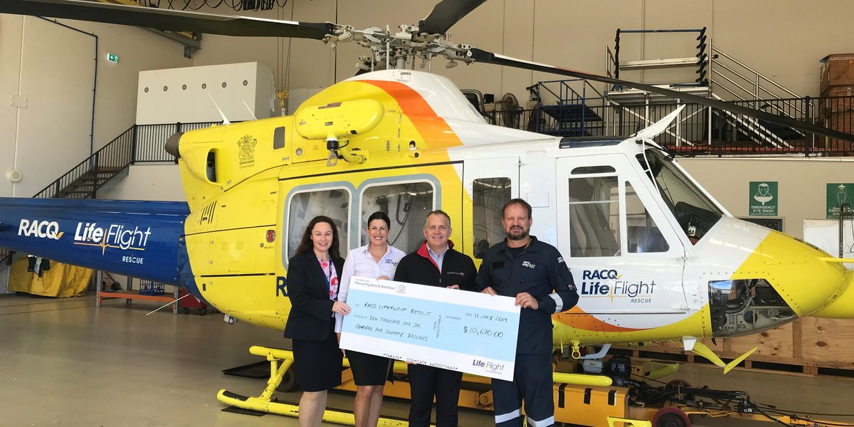 blog large image - Ken Mills Toyota donates over $10,000 to RACQ LifeFlight Rescue through 'Pay-it-Forward'