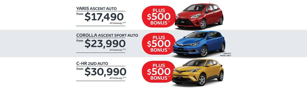 Waverley Toyota's Great Value, still feeling it sale on Yaris, Corolla and C-HR Large Image