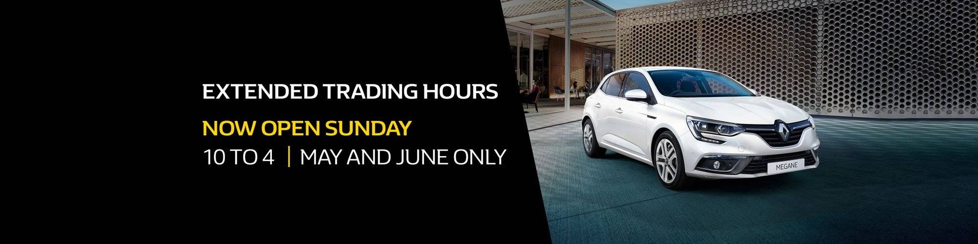 Essendon Renault Now Open Sundays