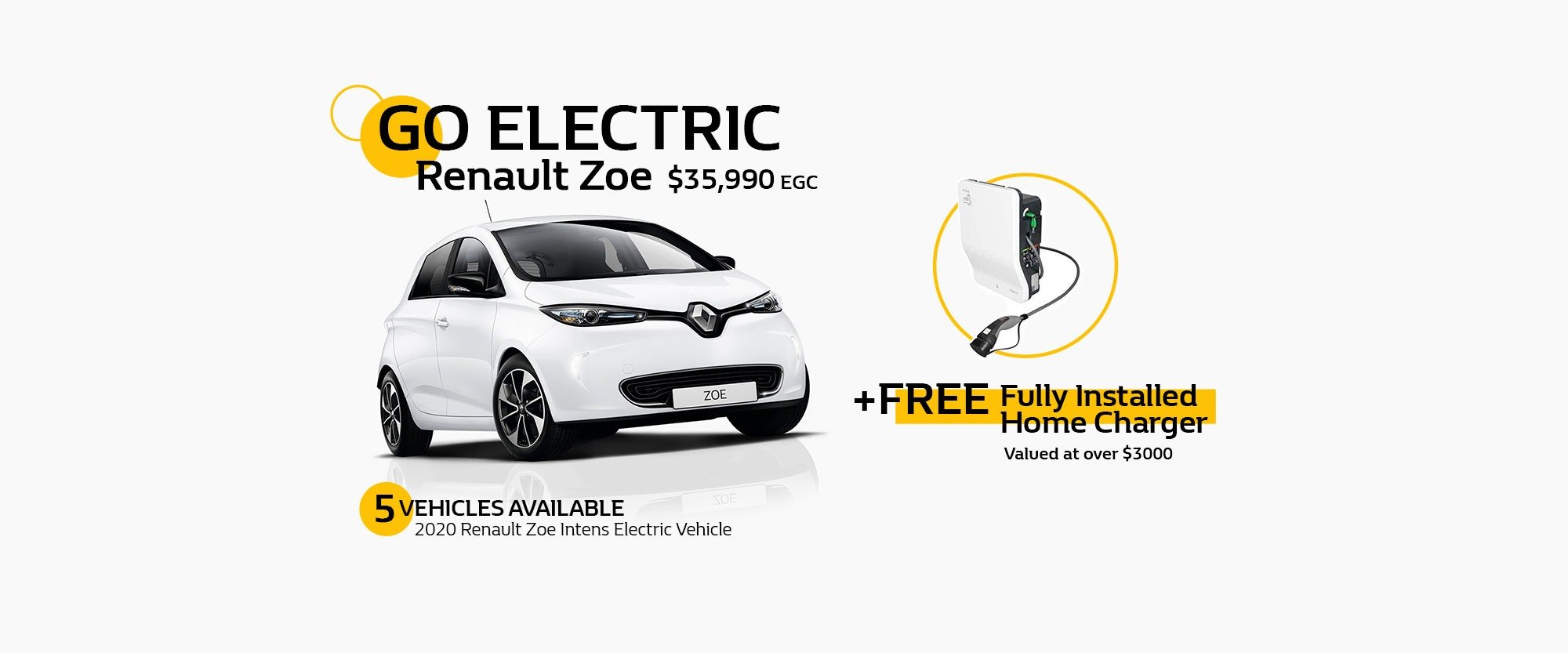 Renault Zoe Electric Vehicle Special Offer