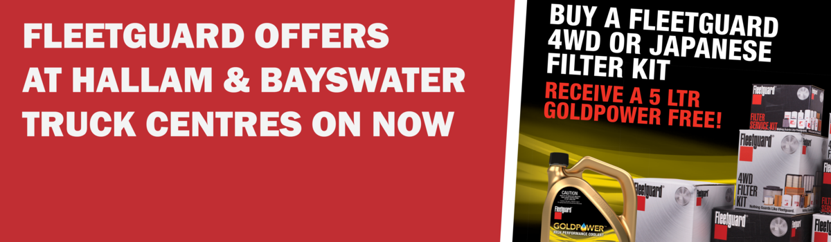BUY A FLEETGUARD 4WD OR JAPANESE FILTER KIT AND RECEIVE 5L GOLDPOWER FREE! Large Image