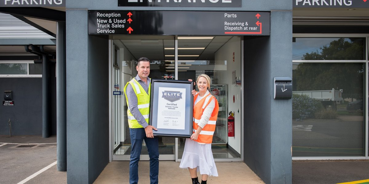 blog large image - Daimler Trucks Adelaide receive their Elite Support Certification