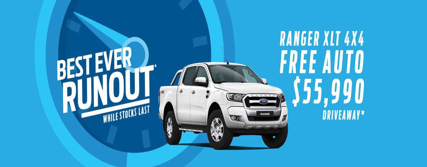 Best Ever Runout | Ranger XLT 4X4 Free Auto $55,990