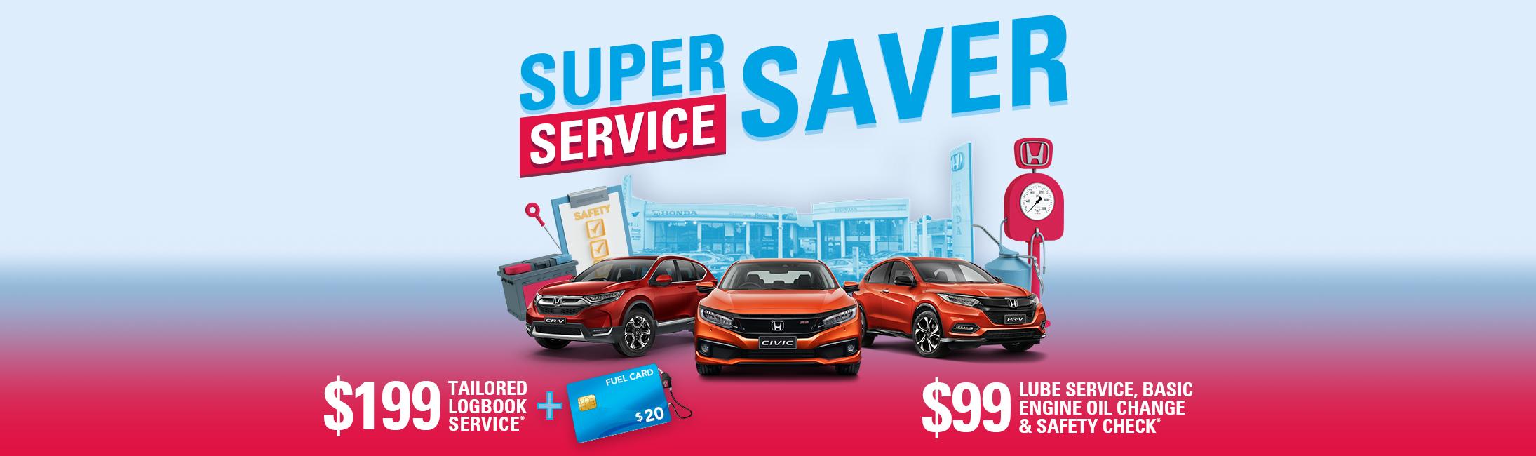 Super Service Saver at Prestige Honda.