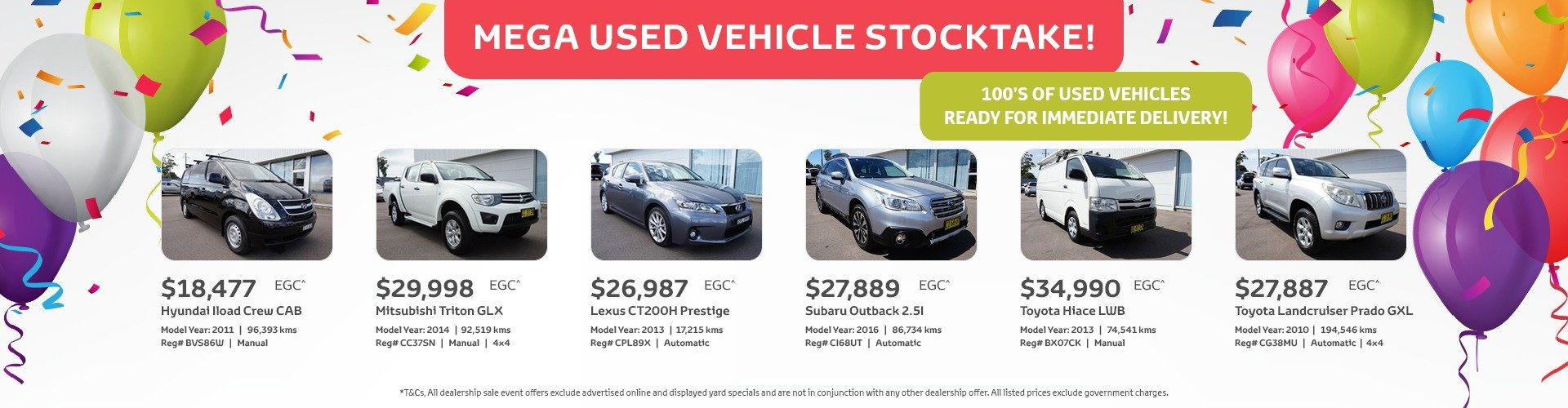 Cardiff Toyota Used Vehicle Specials