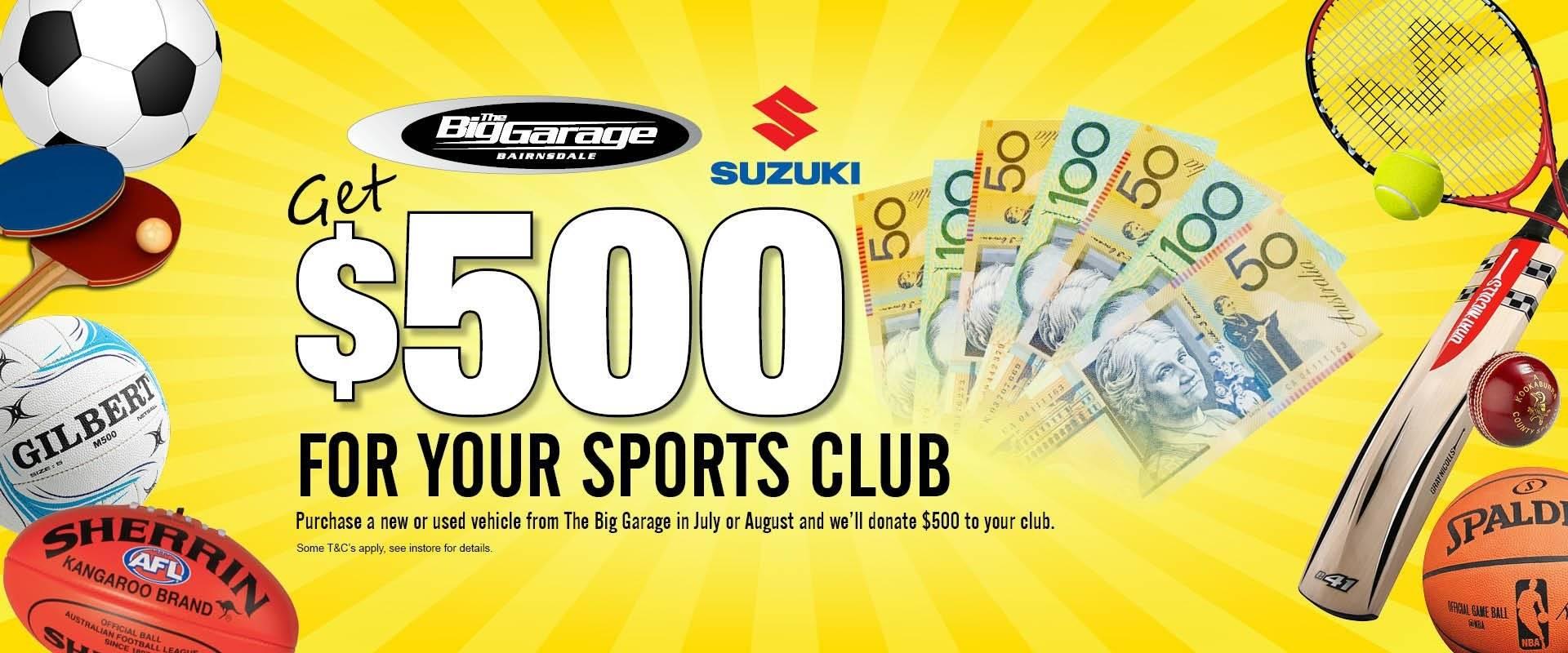 Sporting Club Donation