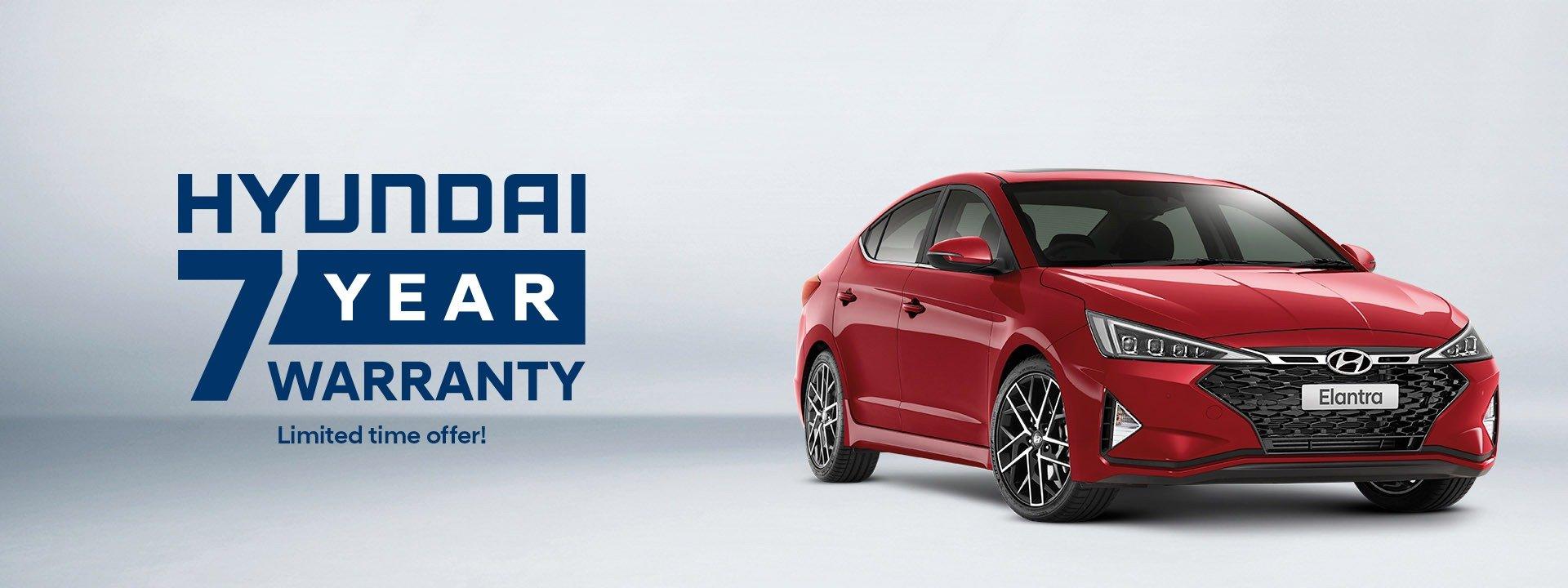 Dandenong Hyundai   Elantra 7 Year Warranty