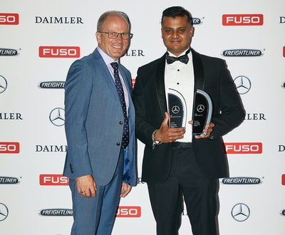Daimler Trucks Laverton - WINNER Tom Balaji - Mercedes-Benz Sales Person of the Year & Rookie of the Year image