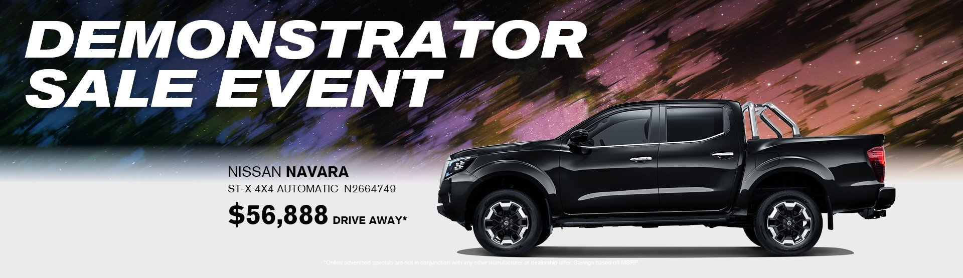 Demonstrator sales event Navara ST-X
