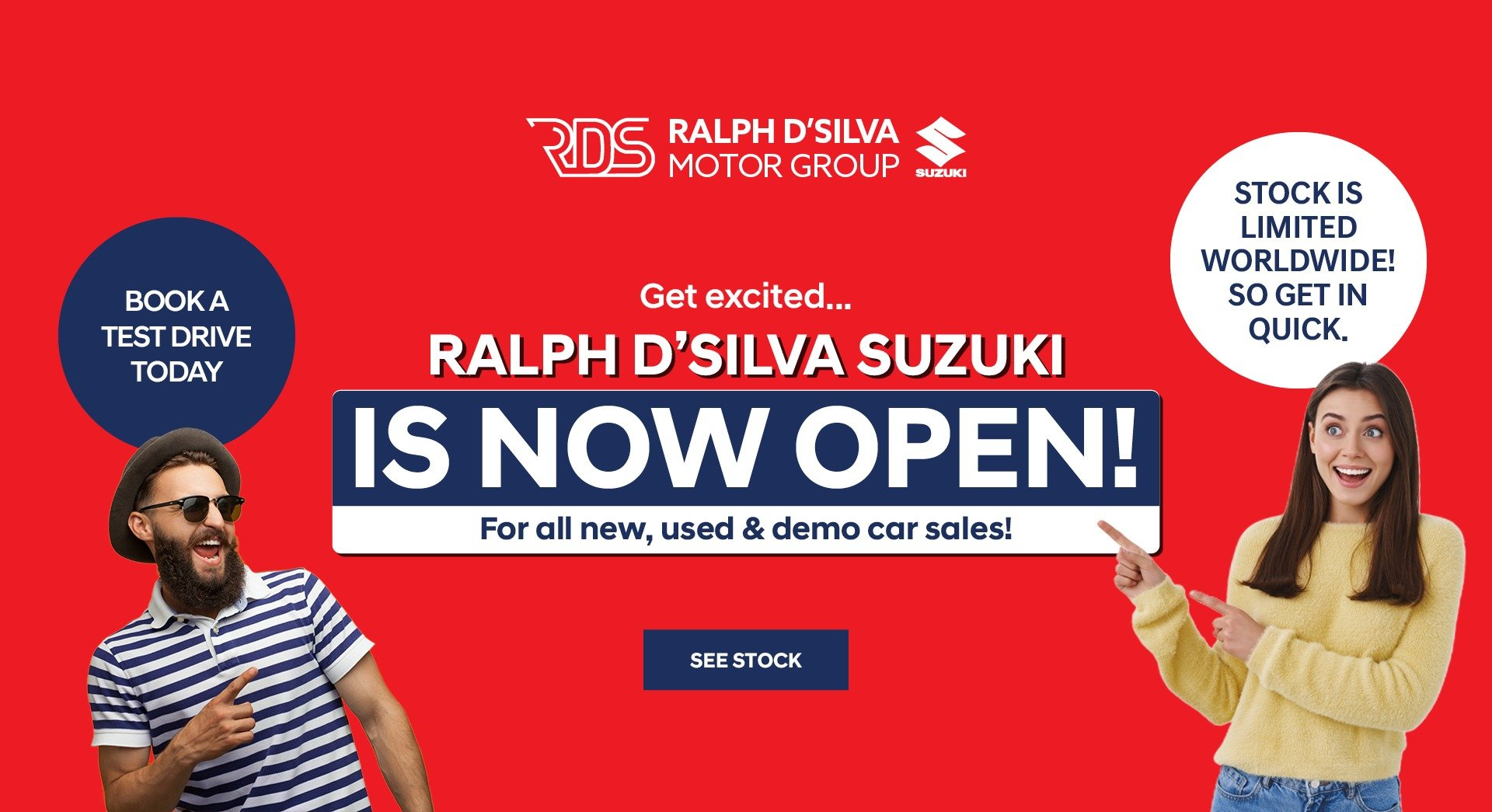 Ralph D'Silva Suzuki Now Open