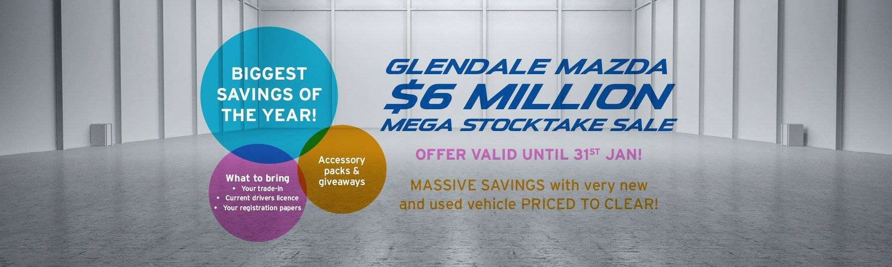 Glendale Mazda Stocktake Sale