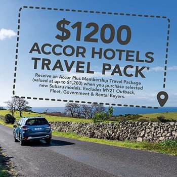 Receive a $1200 Accor Hotels Travel Pack On Us* Small Image