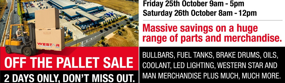 Westar Off the Pallet Sale - 2 Days Only Large Image