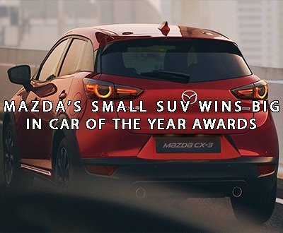Mazda, CX-3 taking best small SUV award - Berwick Mazda image