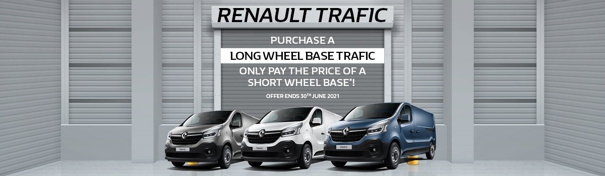 Barry Bourke Renault Exclusive Trafic Offer! Large Image