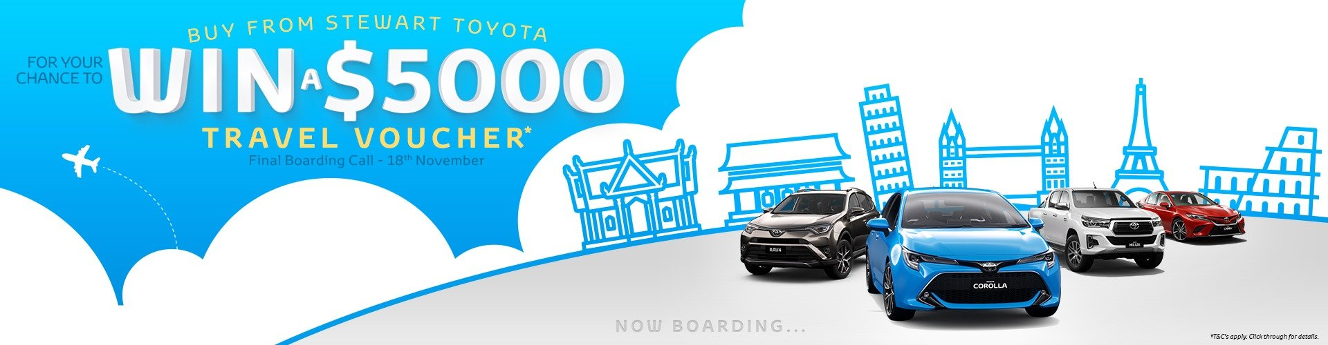 Stewart Toyota WIN $5000 Travel Voucher