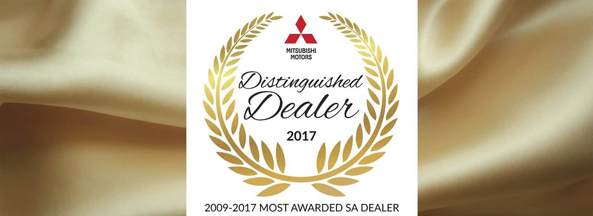 Mitsubishi Distinguished Dealer 2017