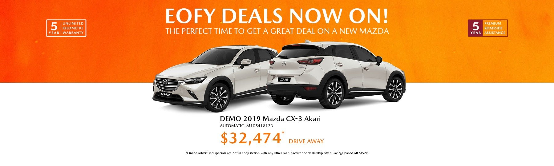 Newcastle Mazda EOFY DEMO DEALS