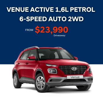 VENUE ACTIVE 1.6L PETROL 6-SPEED AUTO 2WD (Stock # 0420321890) Small Image