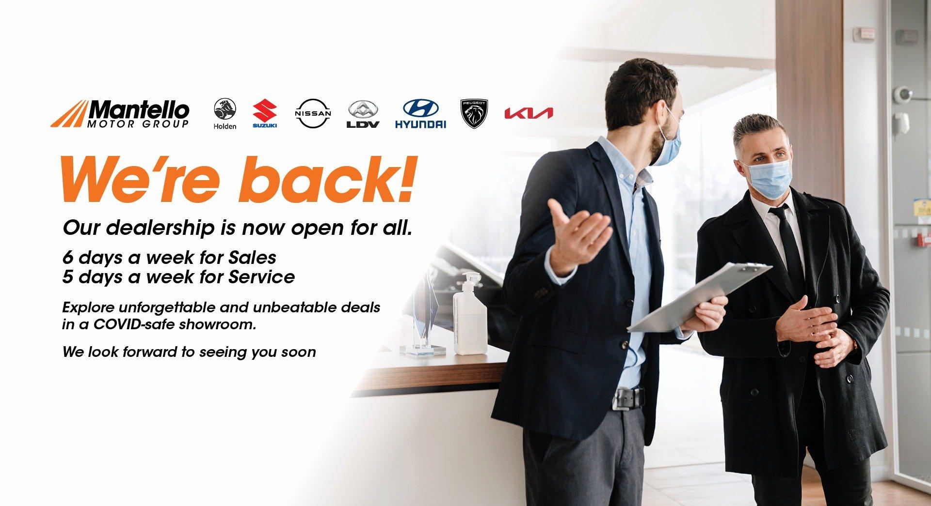 Dealership now open
