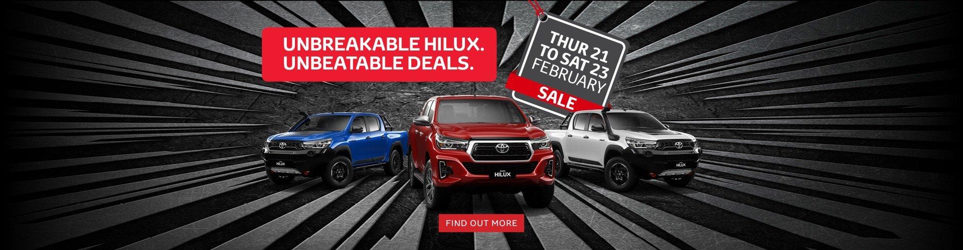 Unbeatable Hilux Deals