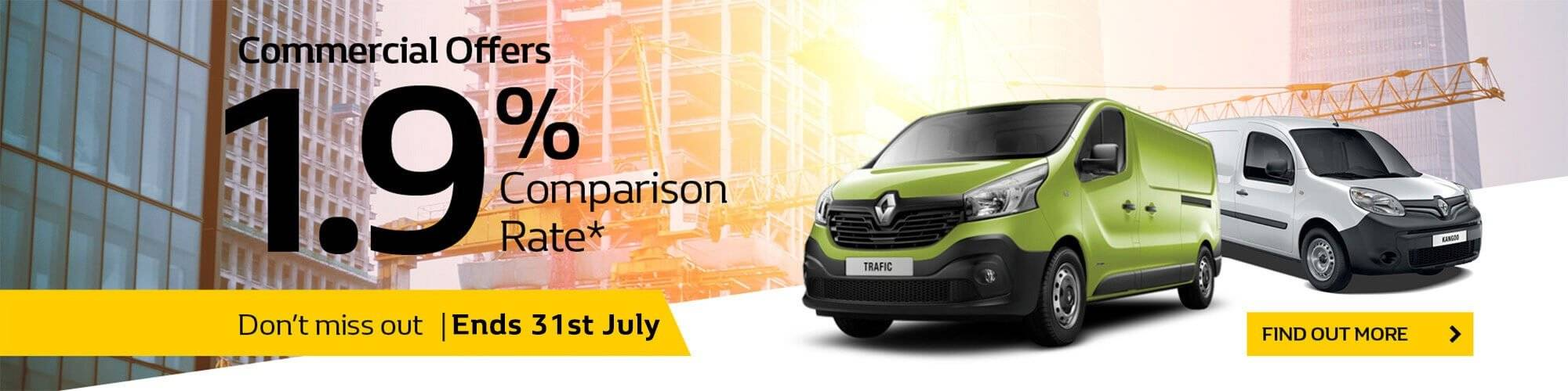 Renault Trafic & Kangoo | 1.9% Comparison Rate