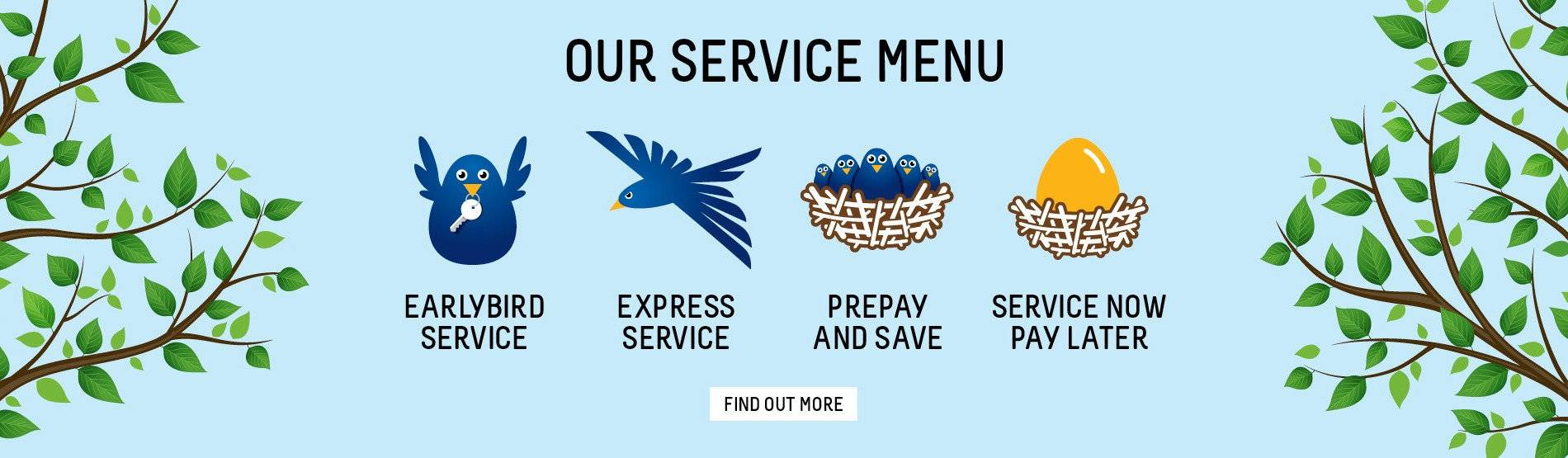 City Nissan Service Menu