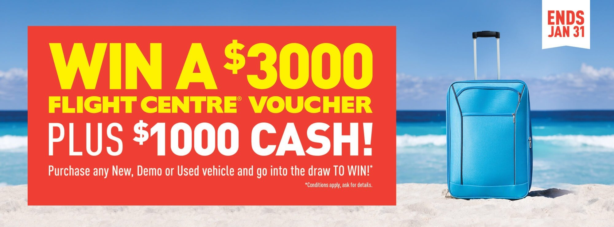 Win $3000 Flight Centre Voucher