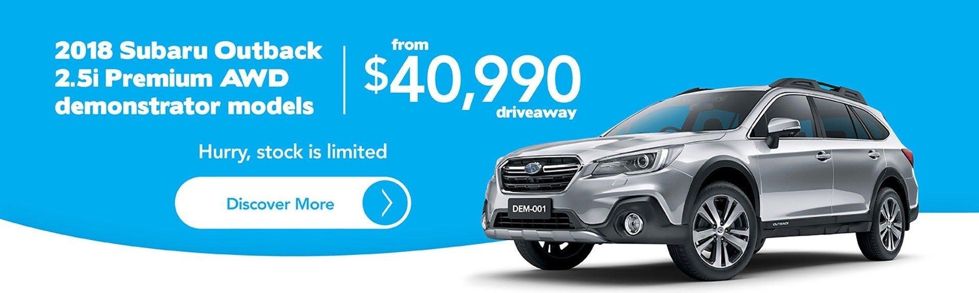 2018 Subaru Outback 2.5i Premium AWD Demo