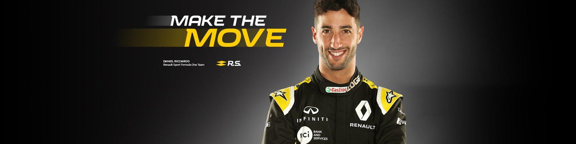 Daniel Ricciardo for Renault in Formula 1