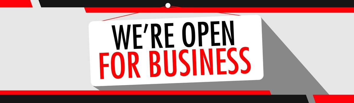 We're Still Open For Business Large Image