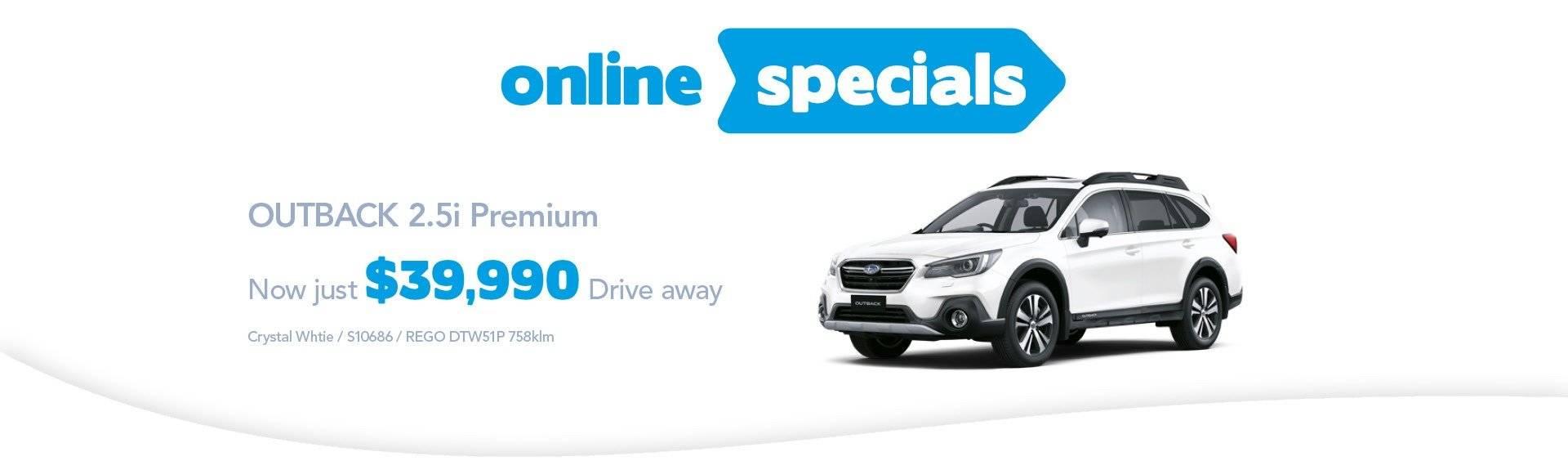 Hunter Subaru Online Specials