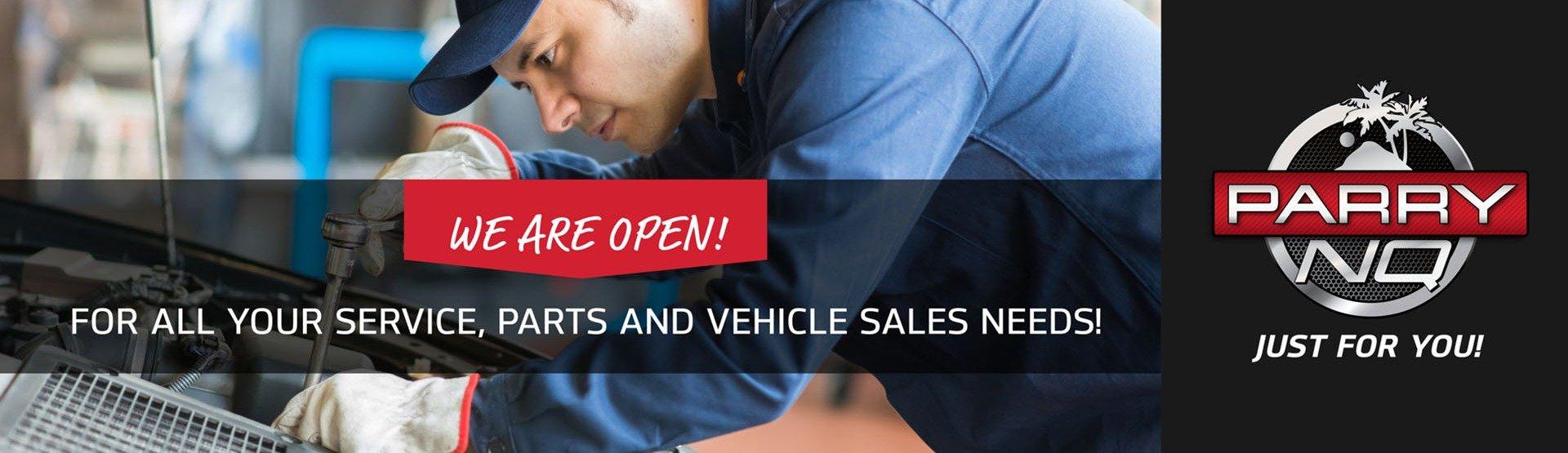 ParryNQ Nissan - We are Open