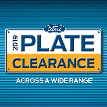 Ford 2019 Plate Clearance Small Image