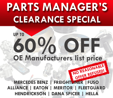 Manager's Parts Specials