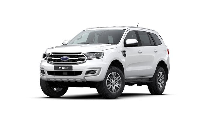 2020 Everest Titanium This is the MY2020.75 Ford Everest Titanium. Family, fun, FREEDOM, Work / Life Balance - these are just some of the words to describe life in an Everest. Designed to be comparable to a TOYOTA PRADO, the TURBO DIESEL EVEREST is a joy to drive.<br/><br/> Featuring standard side steps, leather interior with electric driver seat, electric tailgate, front and reverse sensors and reversing camera, this model is value pack. Complete with safety which includes: Lane Departure Warning and Assist, Pre-Collison Assist with AEB, Trailer Sway Control, Roll Over Mitigation, Traffic Sign Recognition & Pedestrian Detection and Adaptive Cruise.<br/><br/> Make sure you experience the EVEREST before making your decision on a new SUV!<br/><br/> Find out why people buy with confidence from our family owned business, which has been operating out of Queensland for 28 years.<br/><br/> With a comprehensive display of Ford product, covering the Passenger and Commercial vehicle ranges we are confident you will find just what you are looking for. We are dedicated to providing a safe environment for our customers and staff during the COVID-19 pandemic. Our staff are trained and available to take your enquiry via your preferred video call - Facetime, Zoom or Skype This provides you the opportunity to see the vehicle and still ask our Sales team any questions you have. Once you have decided this is the vehicle you want, we can provide you with the option of either unaccompanied or overnight test drives. We can bring the vehicle to you, providing a contactless service and ensure the vehicle is sanitised before giving you the keys. Finally, our vehicles are sanitised after every test drive with areas in the vehicle such as steering wheels, gear shifters, doorhandles and internal console buttons all being sanitised multiple times per day. We are here to provide you the safest yet best experience possible.
