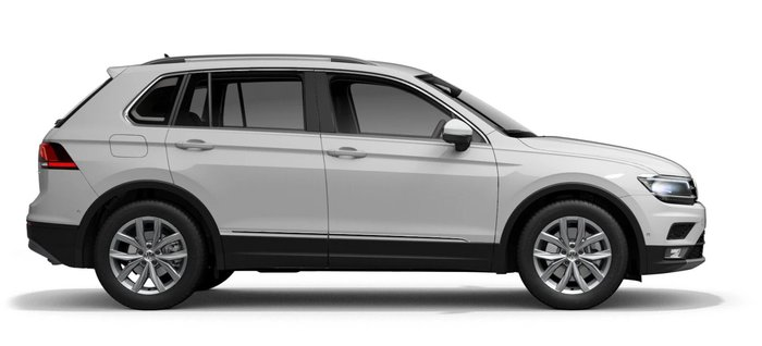 2019 Tiguan  2019 Tiguan 132TSI Comfortline MY19....5<br/><br/> Luxury package (MRRP) $ 4 000^ Backrest release for left front seat Comfort sport front seats Drawer under left front seat Electric adjustment for driver's seat with memory function Electrically foldable exterior mirrors with environment lighting and memory function Elimination of storage compartment in headliner Individually heated front seats Interior lights with switch-off delay and dimmer; Reading lights, front & rear in LED Left exterior mirror, convex Lumbar adjustment for driver's seat, electrically adjustable Panoramic glass sunroof Right exterior mirror: aspherical Vienna leather appointed seat upholstery<br/><br/> Driver assistance package (MRRP) $ 1 400^ Adaptive Cruise Control (ACC) Front Assist with City Emergency Brake (City EB) function (for Adaptive Cruise Control) Lane Assist; Side Assist with Rear Traffic Alert; Traffic Jam Assist; Emergency Assist<br/><br/>