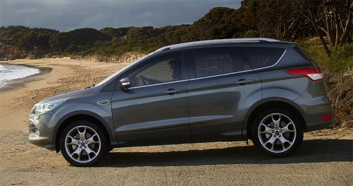 Right Side Overview Of Gray Kuga