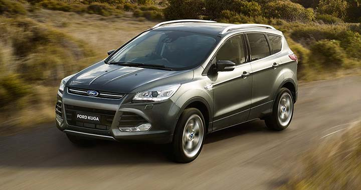 Left Side Of Gray Ford Kuga