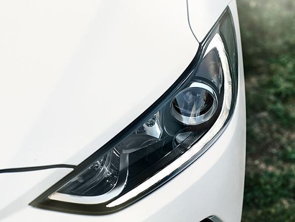 Dusk sensing headlamps with Daytime Running Lights.