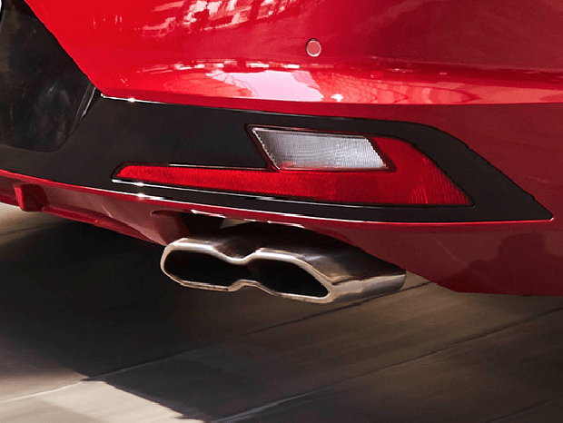 Sports exhaust tips with integrated diffuser.