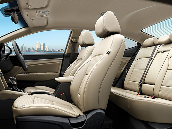 Spacious & premium leather interior.