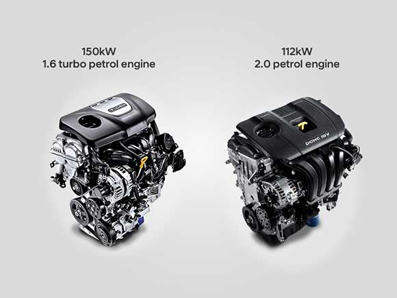 Choice of 2 powerful engines including 112 kW petrol and 150 kW turbo petrol.